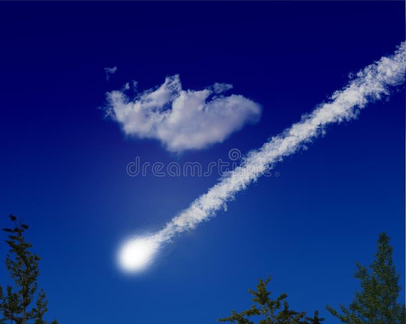 L'asteroïde de comète de météore se heurtent illustration de vecteur