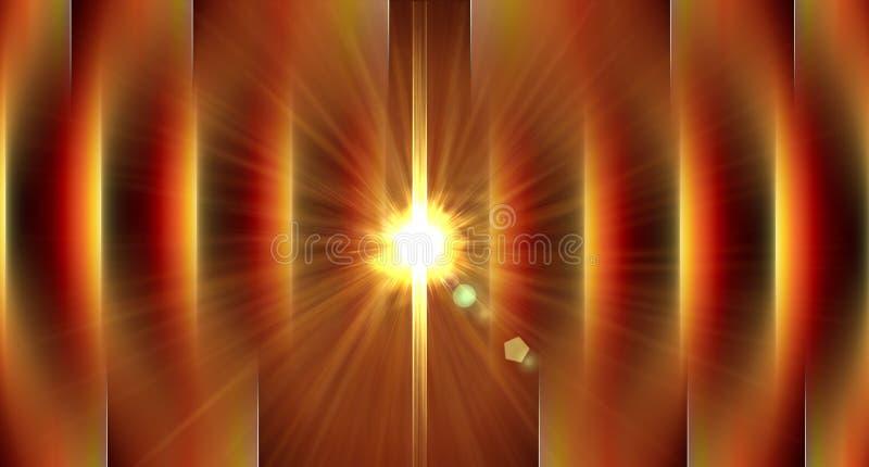 L'astrazione lineare con i raggi luminosi, il fondo astratto moderno generato da computer geometrico, 3d rende illustrazione vettoriale