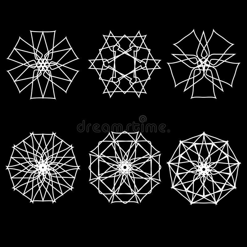 L'astrologie géométrique d'étoile d'icône de modèle tient le premier rôle le logo illustration de vecteur