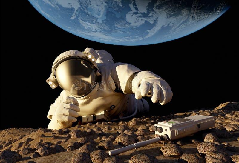 L'astronauta illustrazione di stock