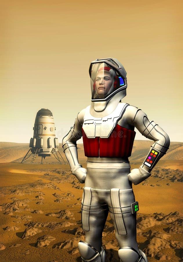 l'astronaute endommage illustration stock