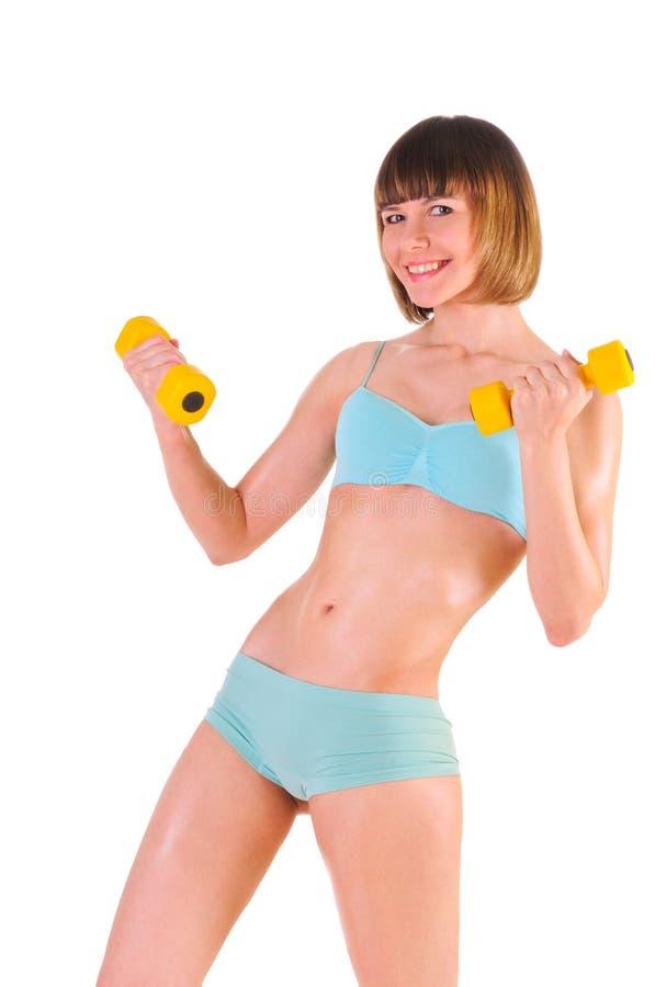 L'athlète est employé dans la forme physique photos stock