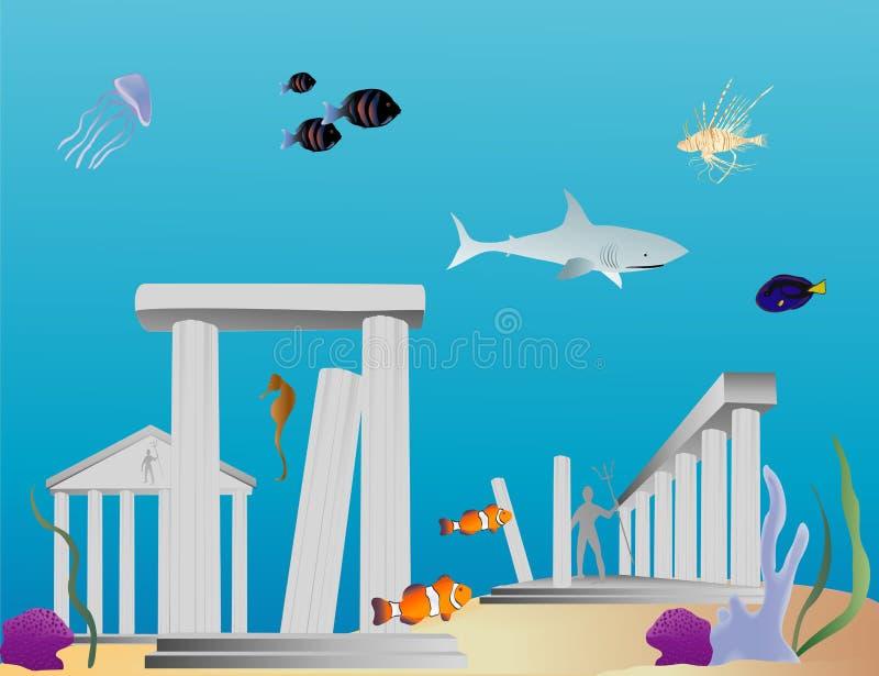 l'Atlantide illustration de vecteur