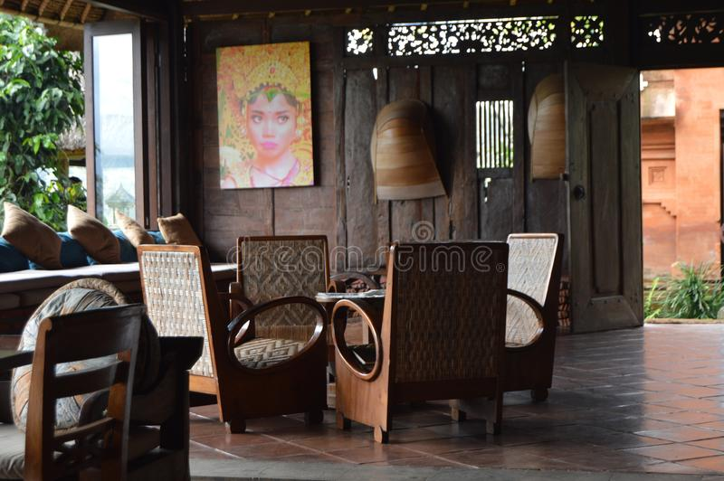 L'atmosphère coloniale - Bali - Indonésie images stock