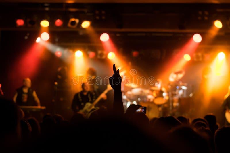 L'atmosphère magique au concert image libre de droits