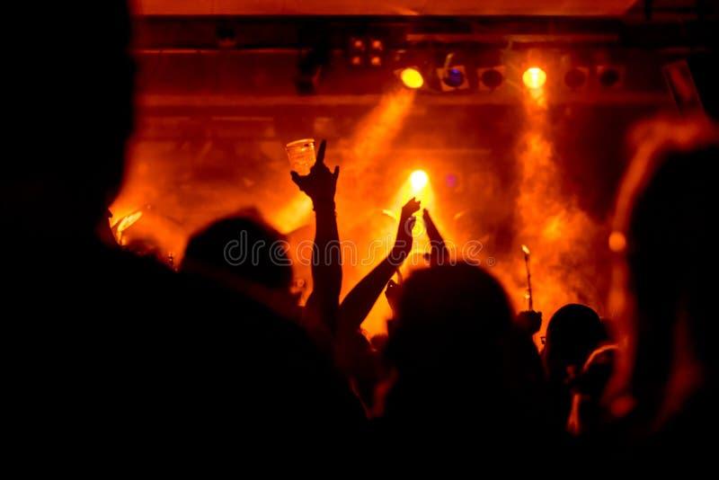 L'atmosphère magique au concert photos libres de droits
