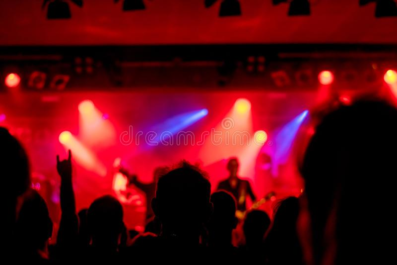 L'atmosphère magique au concert photographie stock libre de droits