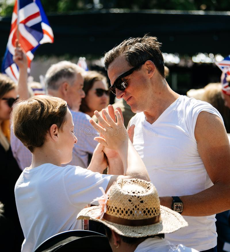 L'atmosphère royale de mariage dans le garçon de Windsor donne cinq photos stock