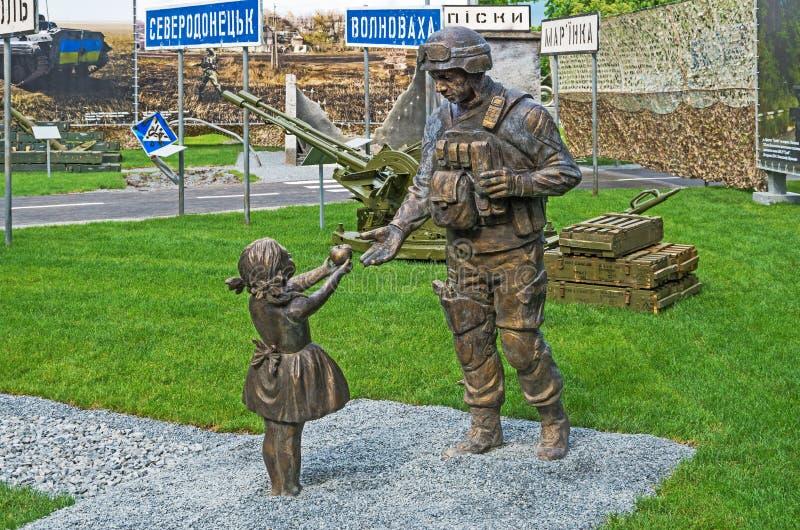 L'ATO de soldats de monument photos libres de droits