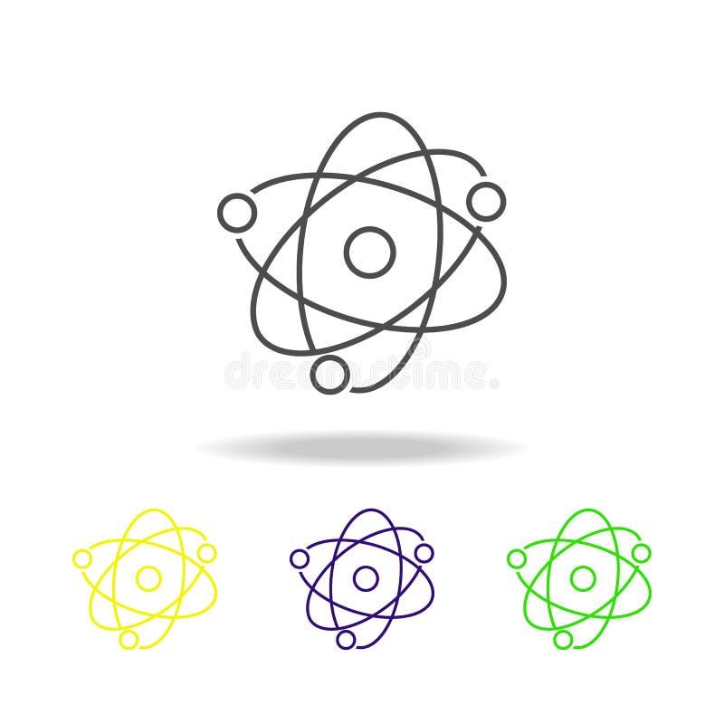 l'atome a coloré des icônes Élément d'illustration de la science Illustration au trait mince pour la conception de site Web et le illustration stock