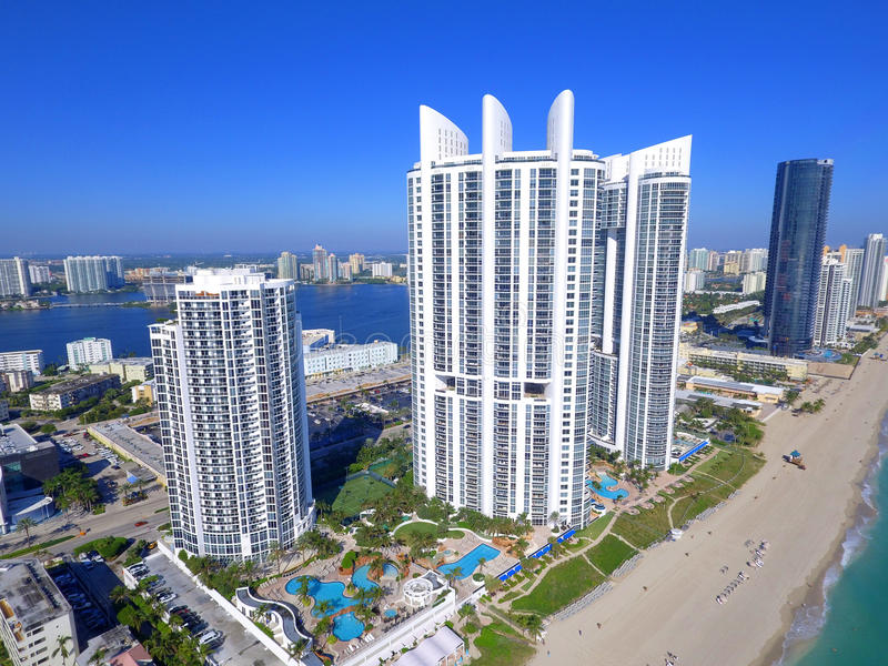 L'atout domine Sunny Isles Beach Florida photo stock