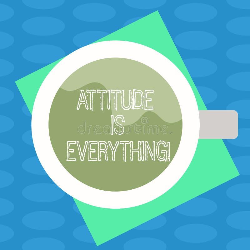 L'attitude des textes d'écriture de Word est tout Le concept d'affaires pour comprendre persuade notre attitude au sujet de vue s illustration de vecteur