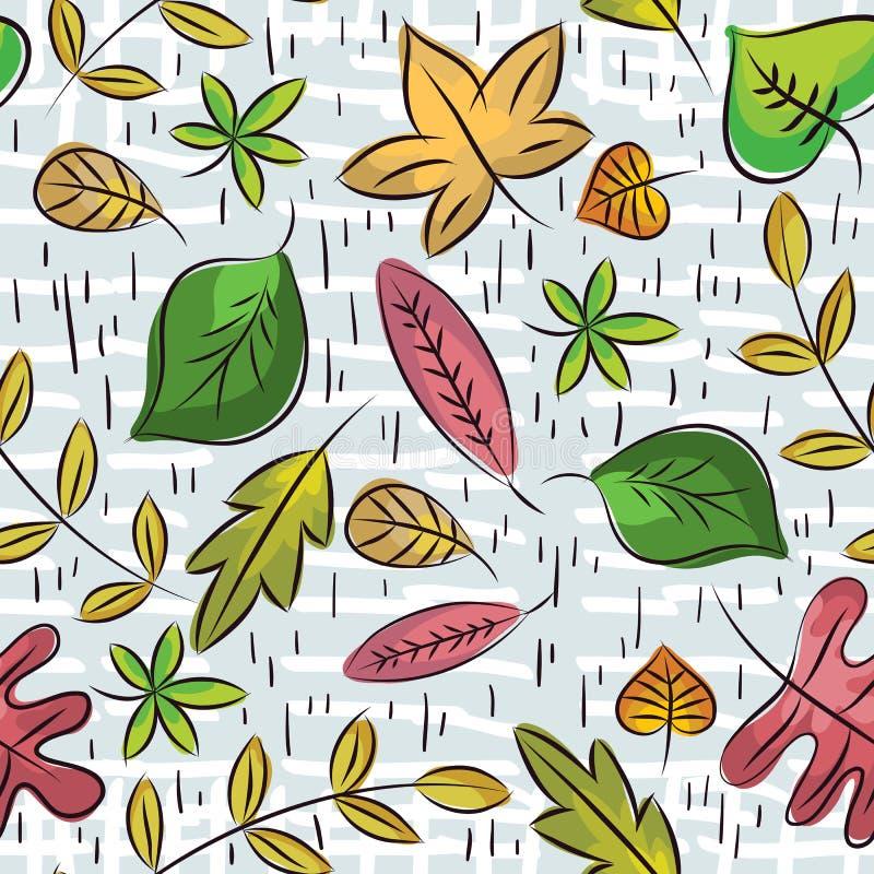 L'attraction de main pousse des feuilles papier d'emballage approprié illustration stock