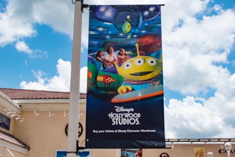 L'attrazione di Toy Story dagli studi di Hollywood firma a sbocco premio nell'area internazionale dell'azionamento fotografia stock