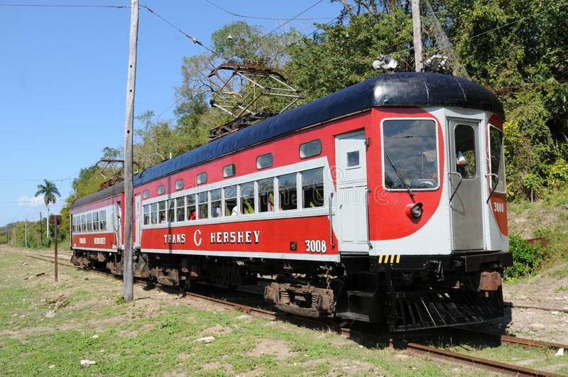 L'attrazione turistica di Cuba: treno del cioccolato dei hershey fotografia stock libera da diritti