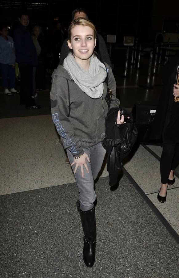 L'attrice Emma Roberts tutto sorride al LASSISMO immagine stock