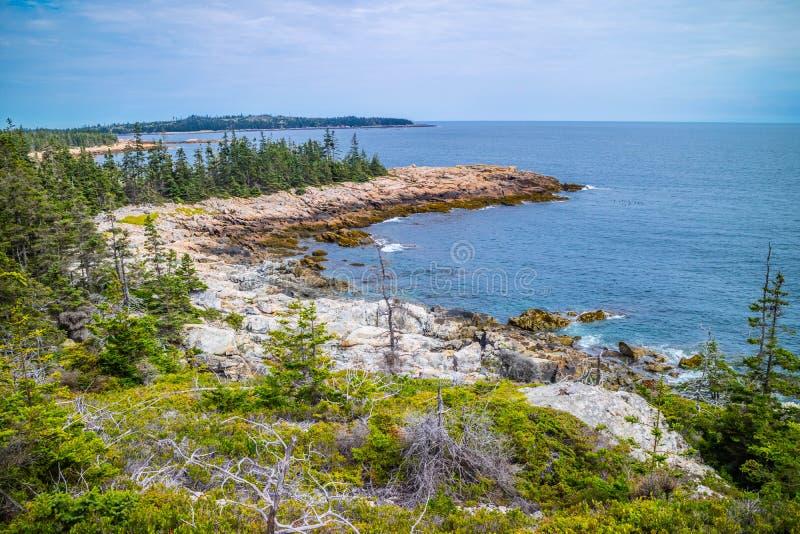 L'Au adorabile Haut di Duck Harbor Isle nell'acadia parco nazionale, Maine immagini stock libere da diritti