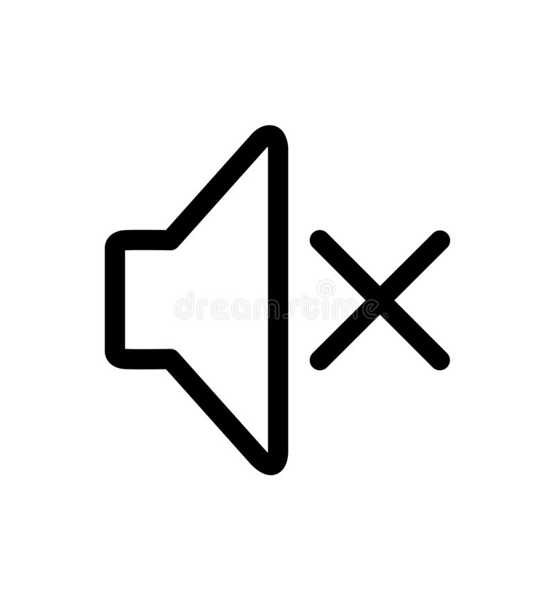 L'audio altoparlante ha chiuso la linea illustrazione dell'icona di vettore isolata su bianco illustrazione vettoriale