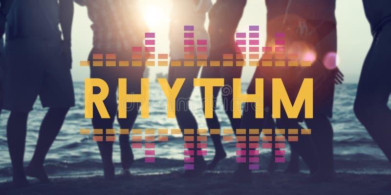 L'audio musica dell'equalizzatore di Digital sintonizza il concetto del grafico di onda sonora immagini stock