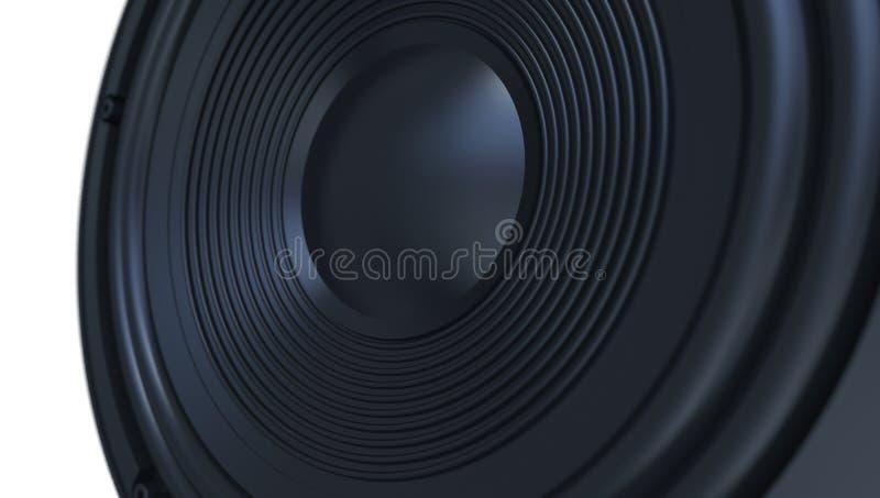 L'audio nero 3d dell'altoparlante fotografia stock