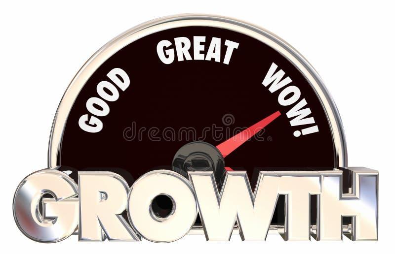L'augmentation de croissance améliorent dépister le succès illustration stock
