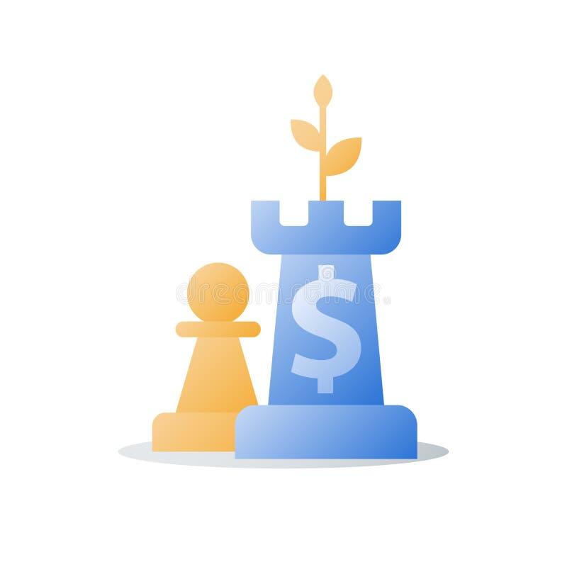 L'augmentation de revenu, croissance de revenu, concept financier, gagnent plus d'argent, retour sur l'investissement illustration stock