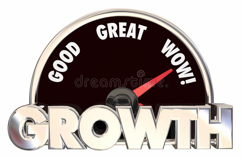 L'aumento della crescita migliora l'inseguimento del successo illustrazione di stock