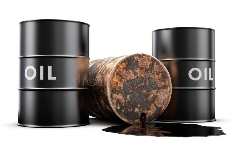 läckande olja för trumma stock illustrationer