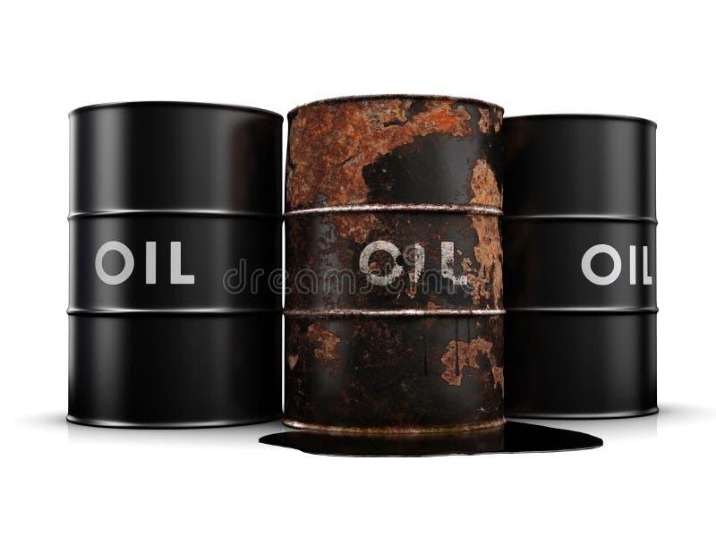 läckande olja för vals vektor illustrationer