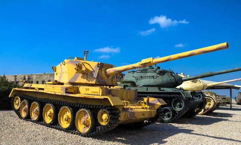 L'auriga fatta britannica carro armato leggero ha catturato dall'IDF in Sud del Libano Latrun, Israele fotografia stock