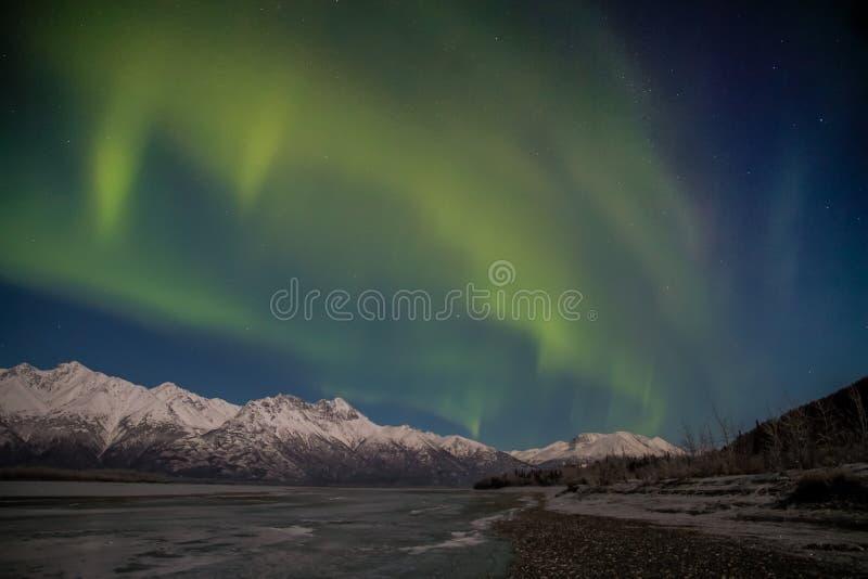 L'aurore d'Alaska images libres de droits