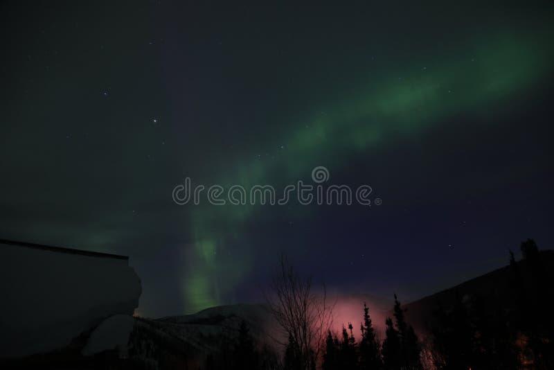 L'aurore en Alaska image libre de droits