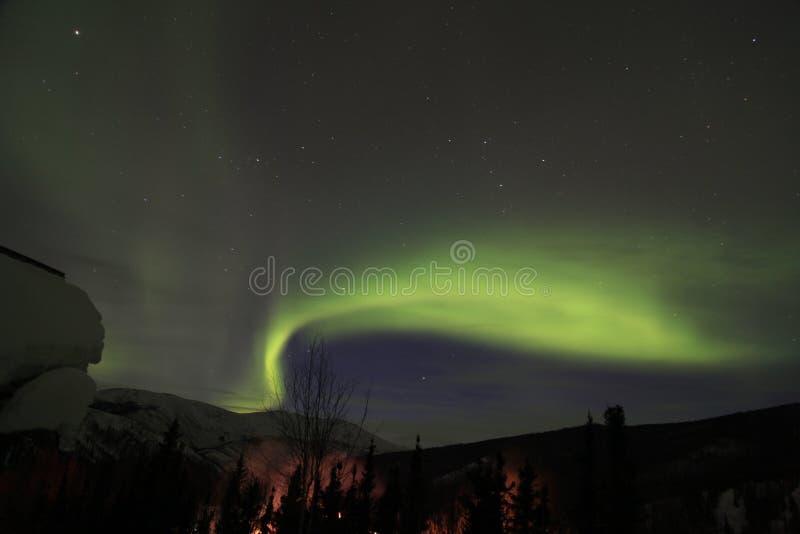 L'aurore en Alaska images stock