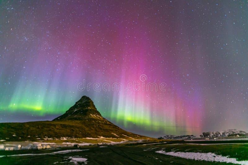 L'aurore Islande de lumière du nord images libres de droits