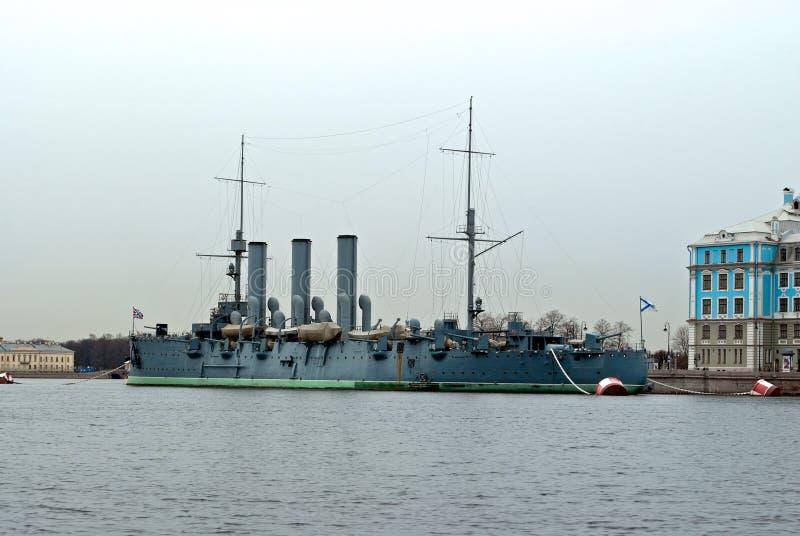L'aurore légendaire de croiseur. photo libre de droits