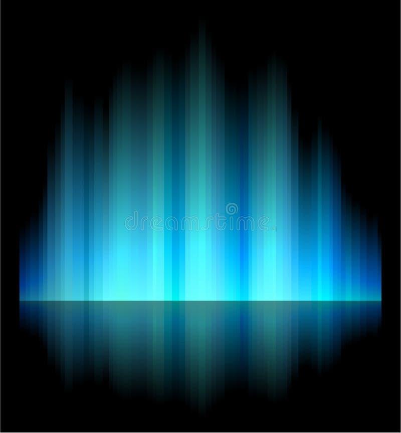 L'aurore nordique. illustration de vecteur
