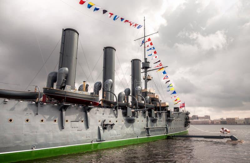 L'aurore révolutionnaire légendaire de croiseur photographie stock libre de droits