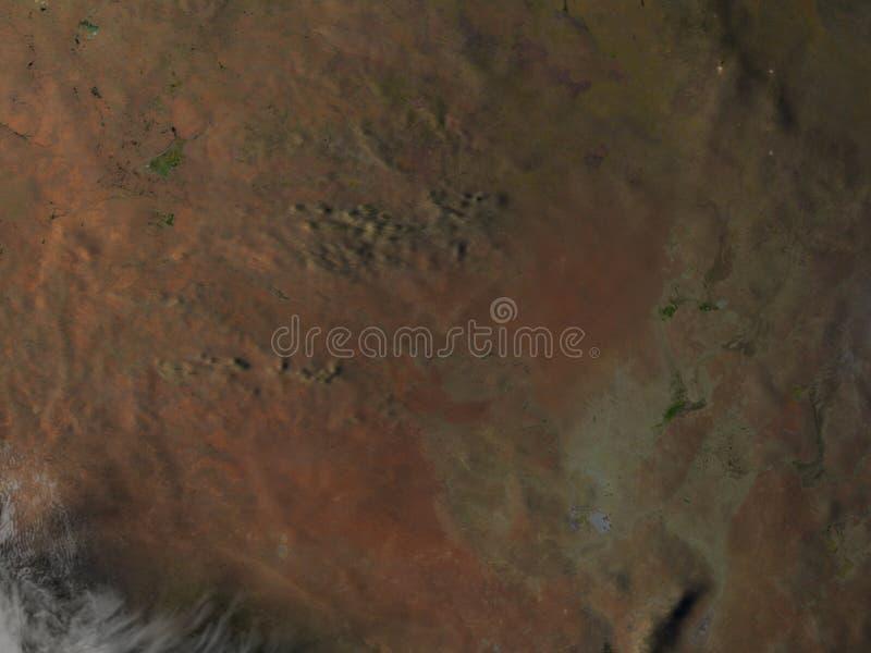 l'Australia centrale alla notte su pianeta Terra royalty illustrazione gratis