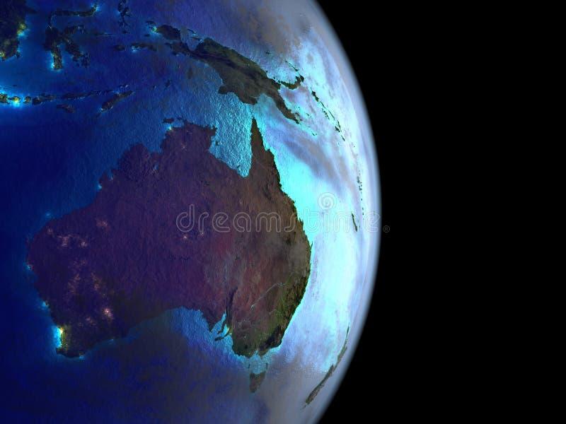 L'Australia da spazio su terra fotografia stock