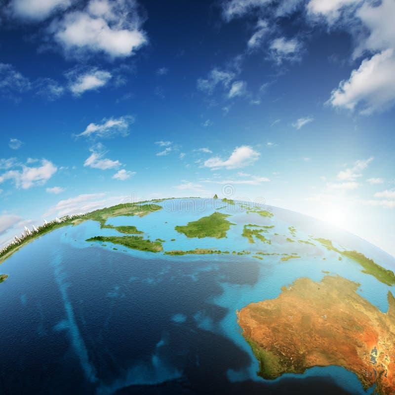 L'Australia e Sud-est asiatico illustrazione di stock