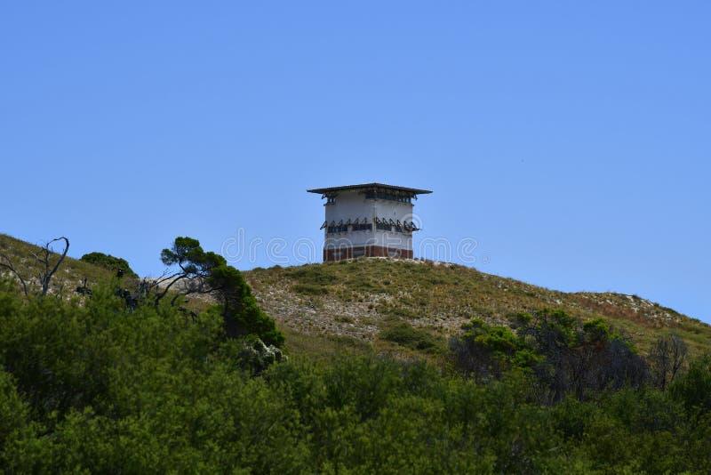 L'Australia, isola di Rottnest, torre di osservazione fotografia stock libera da diritti