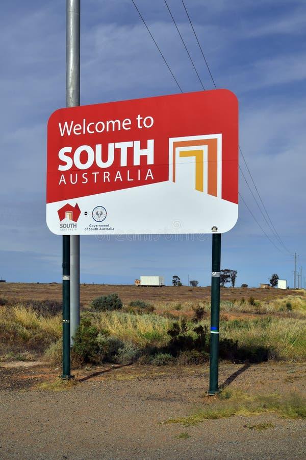 L'Australia, Australia Meridionale, confine fotografie stock