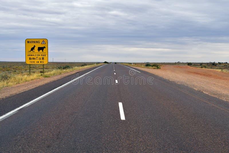 L'Australia, Australia Meridionale, segnale stradale, viaggio fotografia stock libera da diritti