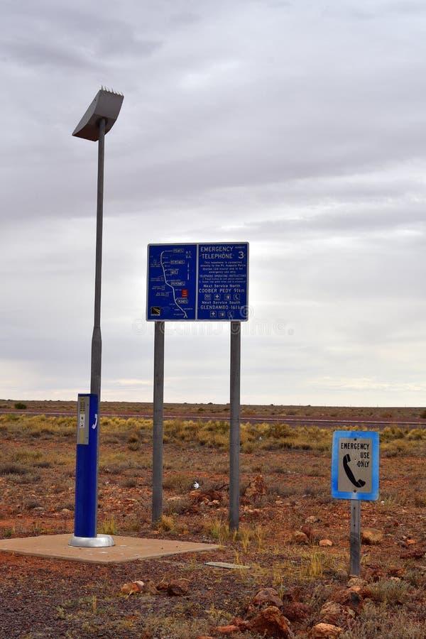 L'Australia, Australia Meridionale, telefono di emergenza immagini stock libere da diritti