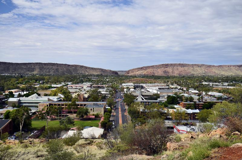 L'Australia, NT, Alice Springs, paesaggio urbano fotografia stock