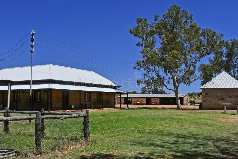 L'Australia, NT, Alice Springs, vecchia stazione del telegrafo fotografie stock libere da diritti