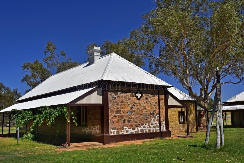 L'Australia, NT, Alice Springs, vecchia stazione del telegrafo fotografia stock