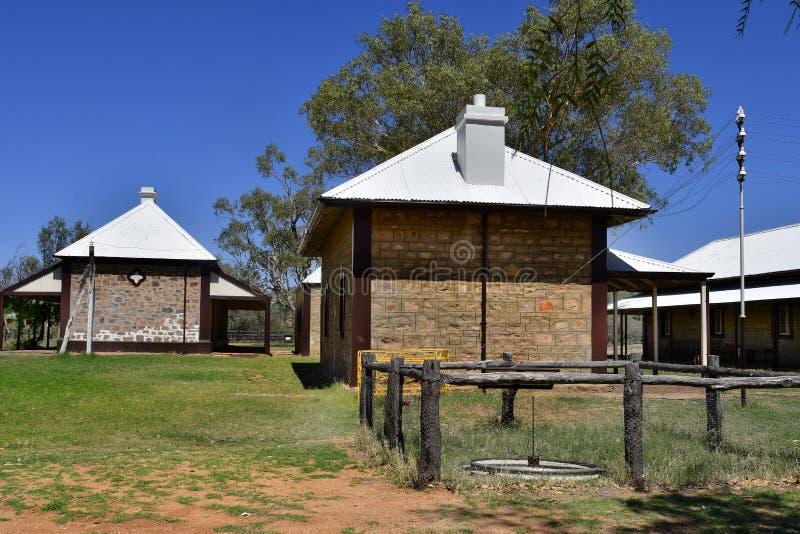 L'Australia, NT, Alice Springs, vecchia stazione del telegrafo immagini stock libere da diritti