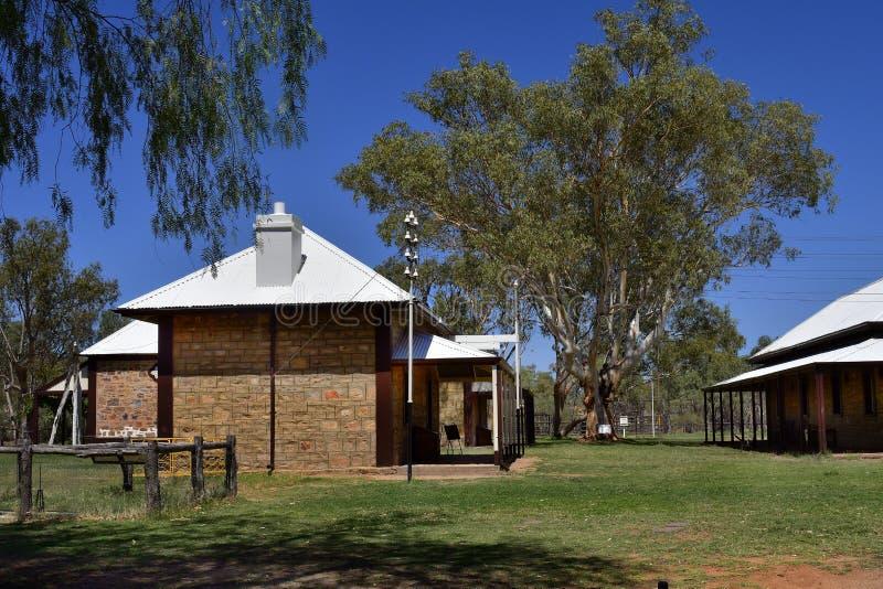 L'Australia, NT, Alice Springs, vecchia stazione del telegrafo immagini stock