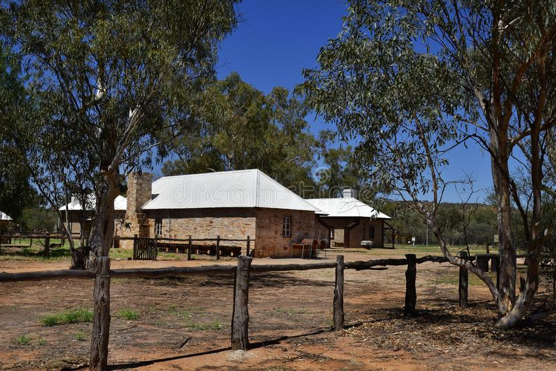 L'Australia, NT, Alice Springs, vecchia stazione del telegrafo fotografie stock